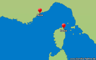 Fähre Nizza Bastia