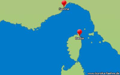Fähre Savona Bastia